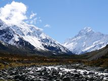 Mt.Cook. It`s different view again. anywhere in Mt.cook so nice and awesome Royalty Free Stock Photo