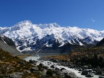 At Mt.Cook. It`s view around Mt.Cook, It very nice sunshine day Royalty Free Stock Images