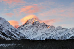 Mt Cook Sunset Royalty Free Stock Photography