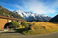 Mt Cook view from hostel Stock Images