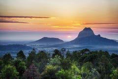 Mt Cootha,阳光海岸,澳大利亚 免版税库存图片