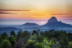Mt. Cootha, sunshine coast, Australia royalty free stock images