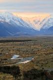 Mt Cozinheiro, ilha sul Nova Zelândia Foto de Stock Royalty Free