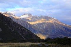Mt Cozinheiro, ilha sul Nova Zelândia Imagens de Stock