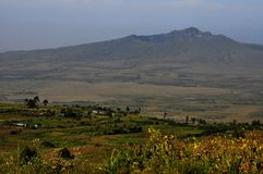 Mt Cráter de Longonot, gran Rift Valley, Kenia foto de archivo