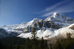 Mt. Crowfoot ,hanging glacier Stock Image