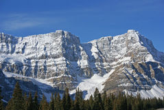 Mt. Crowfoot ,hanging glacier in cirque Royalty Free Stock Photo