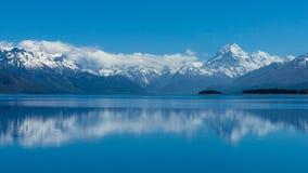 Mt Cucini/Aoraki è nuova montagna più alta di Zealand's fotografia stock libera da diritti
