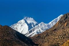 Mt Cumbre de Dhaulagiri Fotos de archivo libres de regalías