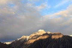 Mt Cuoco, isola del sud Nuova Zelanda Fotografie Stock Libere da Diritti