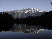 Mt. Currie reflection in Lake Ivey Stock Photo