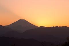 Mt. de zonsopgang van Fuji royalty-vrije stock afbeeldingen