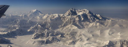 Mt Denali and Mt Mooses Tooth Royalty Free Stock Images