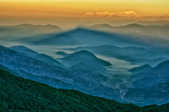 Mt. Dhaulagiri, view from Mt. Shivapuri. Shivapuri Nagarjun National Park royalty free stock photo