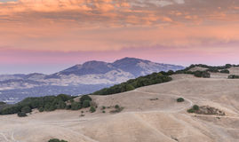 Mt Diablo Sunset Contra Costa County, Kalifornien, USA Arkivbild
