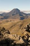 Mt Doom. Rocky terrain leading to Mt Doom, Ngauruhoe, New Zealand stock photos