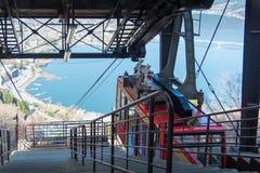Mt Drahtseilbahnstation Kachi Kachi ohne eine und Vogelperspektive Lizenzfreies Stockbild