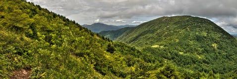 Mt Eboshidake fa parte delle alpi giapponesi nella prefettura di Nagano ed è alto 2.066 metri Immagini Stock Libere da Diritti