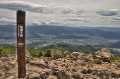Mt Eboshidake fa parte delle alpi giapponesi nella prefettura di Nagano ed è alto 2.066 metri Fotografia Stock