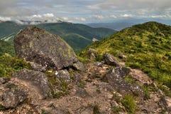 Mt Eboshidake fa parte delle alpi giapponesi nella prefettura di Nagano ed è alto 2.066 metri Fotografie Stock