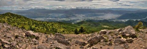Mt Eboshidake fa parte delle alpi giapponesi nella prefettura di Nagano ed è alto 2.066 metri Immagine Stock Libera da Diritti