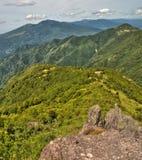 Mt Eboshidake fa parte delle alpi giapponesi nella prefettura di Nagano ed è alto 2.066 metri Fotografie Stock Libere da Diritti