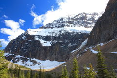 Mt Edith Cavell. In Jasper National Park royalty free stock image