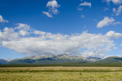 Mt Elbert, Colorado com nuvens Fotografia de Stock