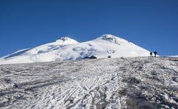 MT Elbrus, de Kaukasus, Russische Federatie Royalty-vrije Stock Foto's