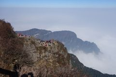 Mt Emei Fotografía de archivo
