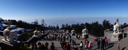 Mt Emei Arkivfoton