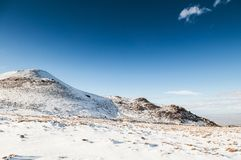 Mt. Erciyes volcano covered with snow in winter, Kayseri, Turkey. Mt. Erciyes volcano covered with snow in winter season, on a clear sky day Stock Images