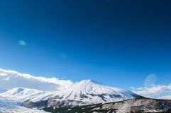 Mt. Erciyes volcano covered with snow in winter, Kayseri, Turkey. Mt. Erciyes volcano covered with snow in winter season, on a clear sky day Stock Photography
