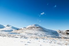 Mt. Erciyes volcano covered with snow in winter, Kayseri, Turkey. Mt. Erciyes volcano covered with snow in winter season, on a clear sky day Royalty Free Stock Photo