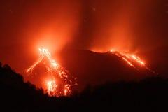 Mt Etna火山,西西里岛,意大利 免版税库存图片