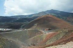 从Mt Etna的风景 免版税库存照片
