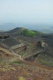 从Mt Etna的Vulcanic场面 库存照片