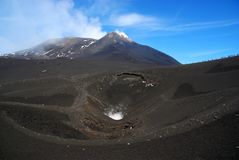 Mt Etna. Visiting the volcano Etna, Italy royalty free stock photography