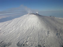 Mt. Etna. Aerial shot of Mt. Etna, Sicily, Italy Royalty Free Stock Photography