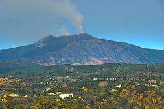 Mt etna italy sicily Arkivfoton