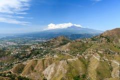 Mt Etna krajobraz Fotografia Stock
