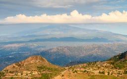 Mt Etna krajobraz Zdjęcie Stock
