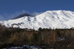 Mt. Etna north landscapes Royalty Free Stock Images
