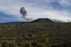 Mt. Etna, popiół emisja Zdjęcie Stock