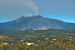 MT Etna, Sicilië, Italië Stock Foto's