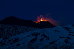 Mt. Etna Strombolian activity Royalty Free Stock Images