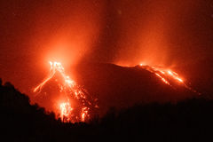Mt. Etna Volcano, Sicily, Italy Royalty Free Stock Images