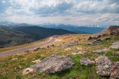 Mt. Evans Highway fotografie stock