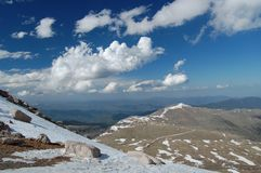 Mt. Evans Road Royalty Free Stock Photography