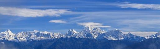 Mt everest принятый в nagarkot, Непал Стоковая Фотография